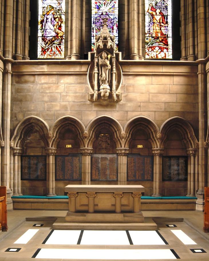 University of Glasgow Chapel memorial panels