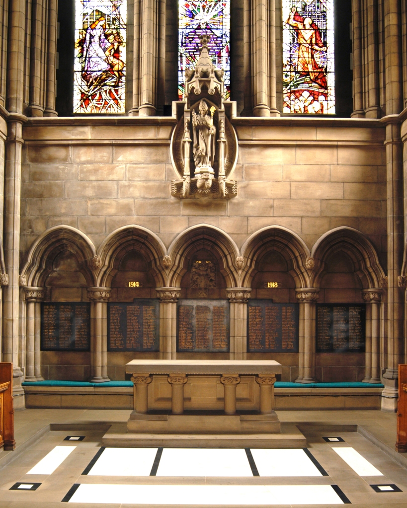 University of Glasgow Chapel memorial panels