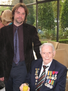 Tony Pollard with Harry Patch