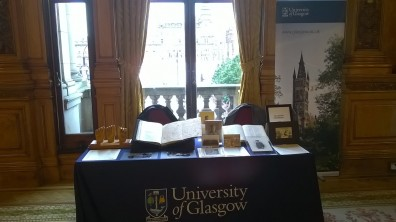 University of Glasgow display at City Chambers