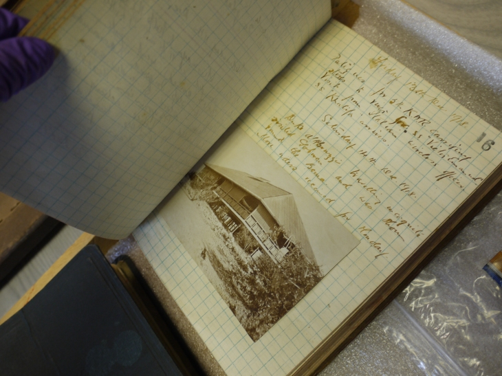 Field diary of JK Thomson, GLAHM 138404.