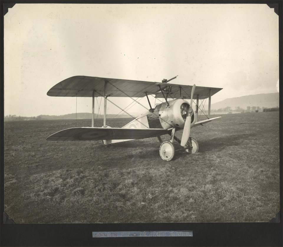 Aeroplane from the Beardmore WWI production album. University of Glasgow Archives Reference: UGD100/1/11/3/72