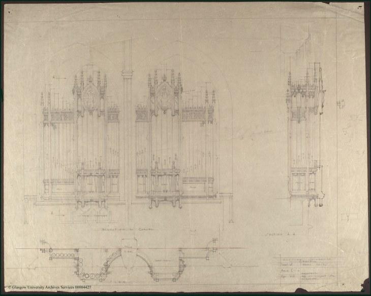 Burnet's design of the organ case.