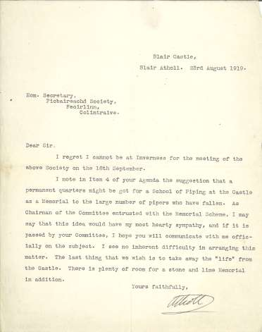 """""""I may say that this idea would have my most hearty sympathy, and if it is passed by your Committee, I hope you will communicate with me officially on the subject…"""" (DC80/376/35)"""