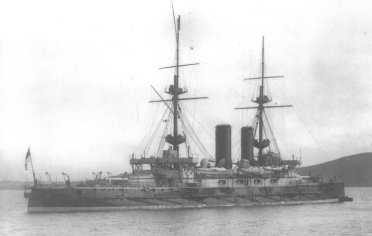 HMS Implacable c.1901, via Wikimedia Commons