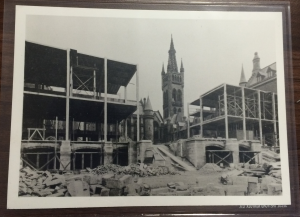 Photograph of the construction of the Chapel (PHU11/4)