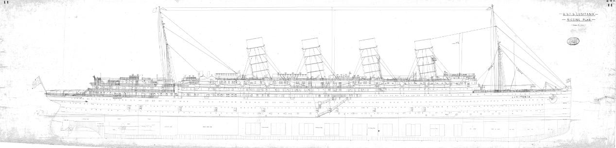 Lusitania Sinking Drawing Simple