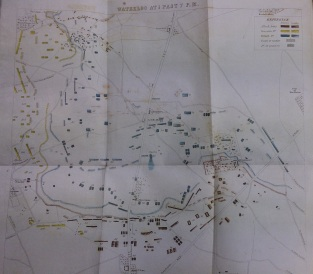 Map from: 'Guide to the model of the Battle of Waterloo' (Library Research Annexe BG33-h.4)