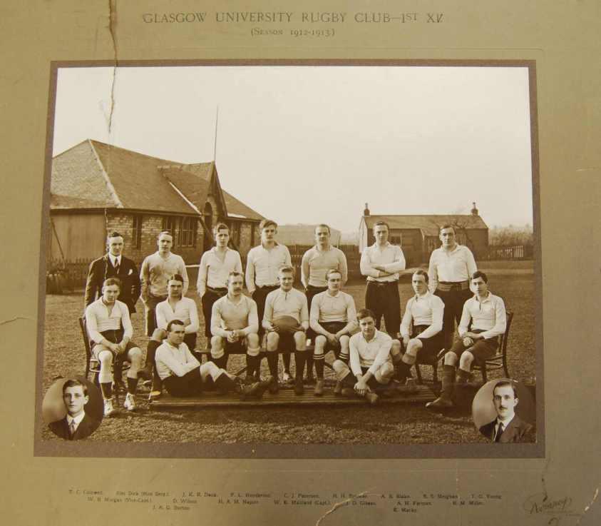 Glasgow University Rugby Club 1912-13