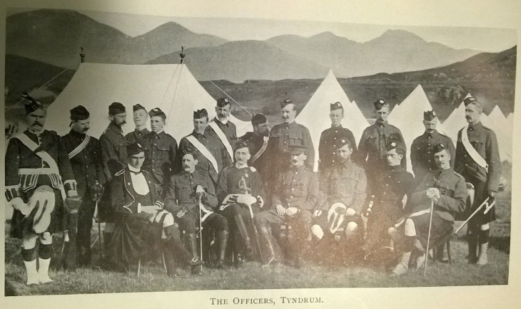 Alex Taylor 2 Officers at Tyndrum 1901.jpg