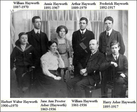 Hayworth Family 1910
