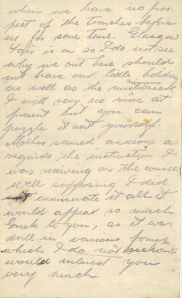 Page Two of Daniel's letter of July 13th 1918 DC179/1/2/14/9