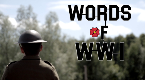 Official Banner - Words of WW1